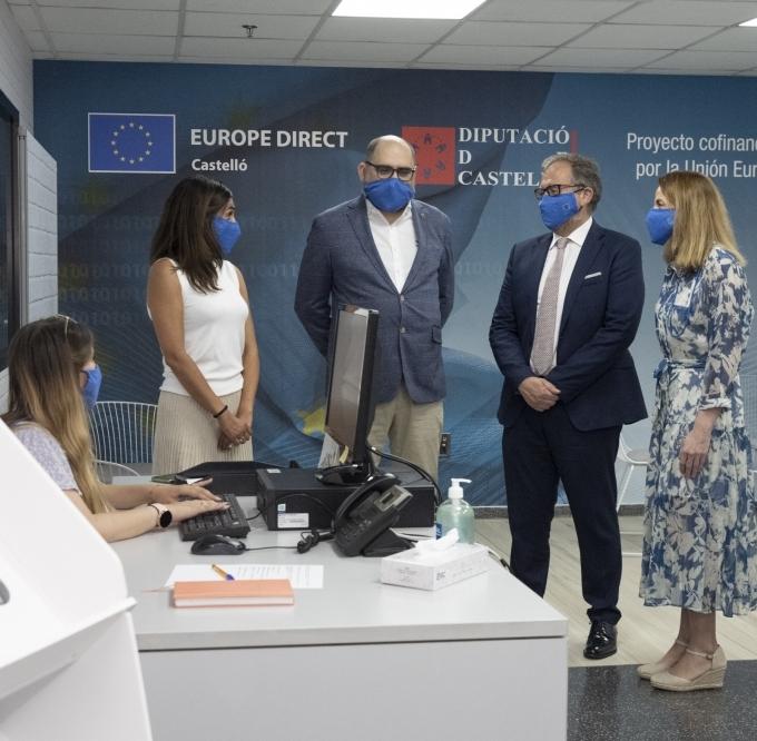 Martí y Ferrando inauguran el nuevo centro Europe Direct Castelló con el impulso de un 'hub' europeo por la innovación en la provincia