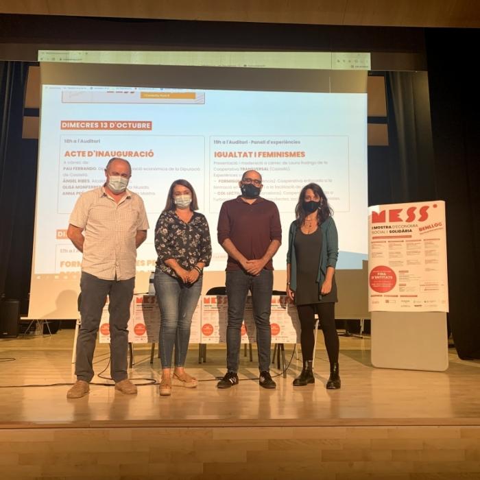 El diputado de Promoción Económica inaugura la primera Mostra d'Economia Social i Solidària