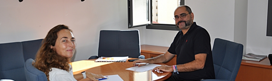 Ferrando recibe a la comisionada de Asuntos Europeos e Iniciativas estratégicas en la Diputación