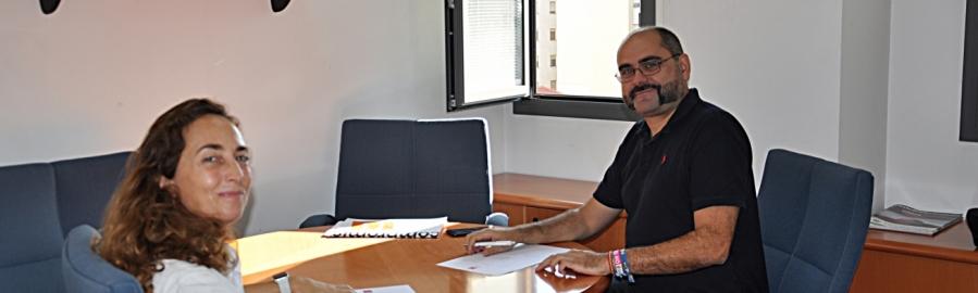 Ferrando rep la comissionada d'Assumptes Europeus i Iniciatives estratègiques a la Diputació
