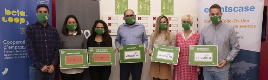 La Diputació de Castelló rep a les creadores de Vinaterra i Natcamp, guanyadores del Rural Reset Weekend 2020