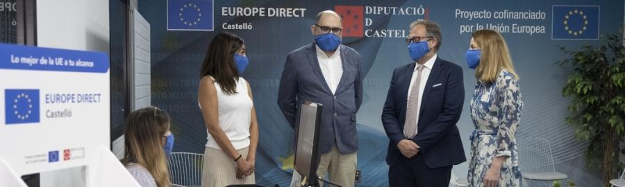 Martí i Ferrando inauguren el nou centre Europe Direct Castelló amb l'impuls d'un 'hub' europeu per la innovació en la província
